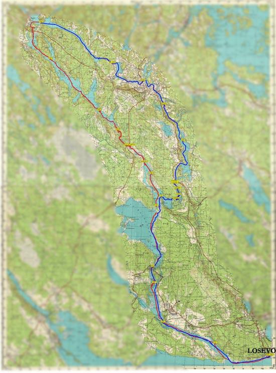 карта озера вуокса для oziexplorer